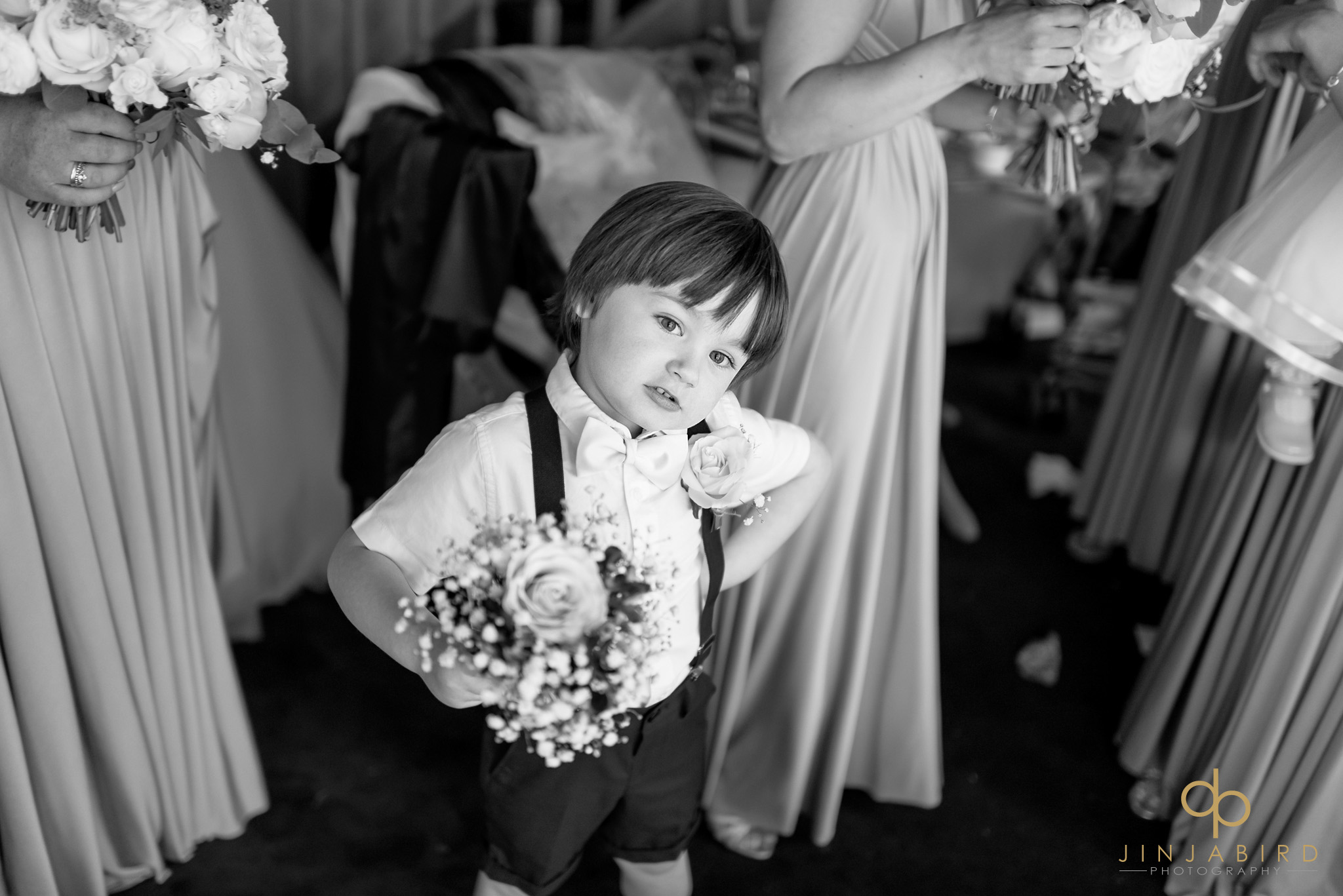 pageboy with flowers