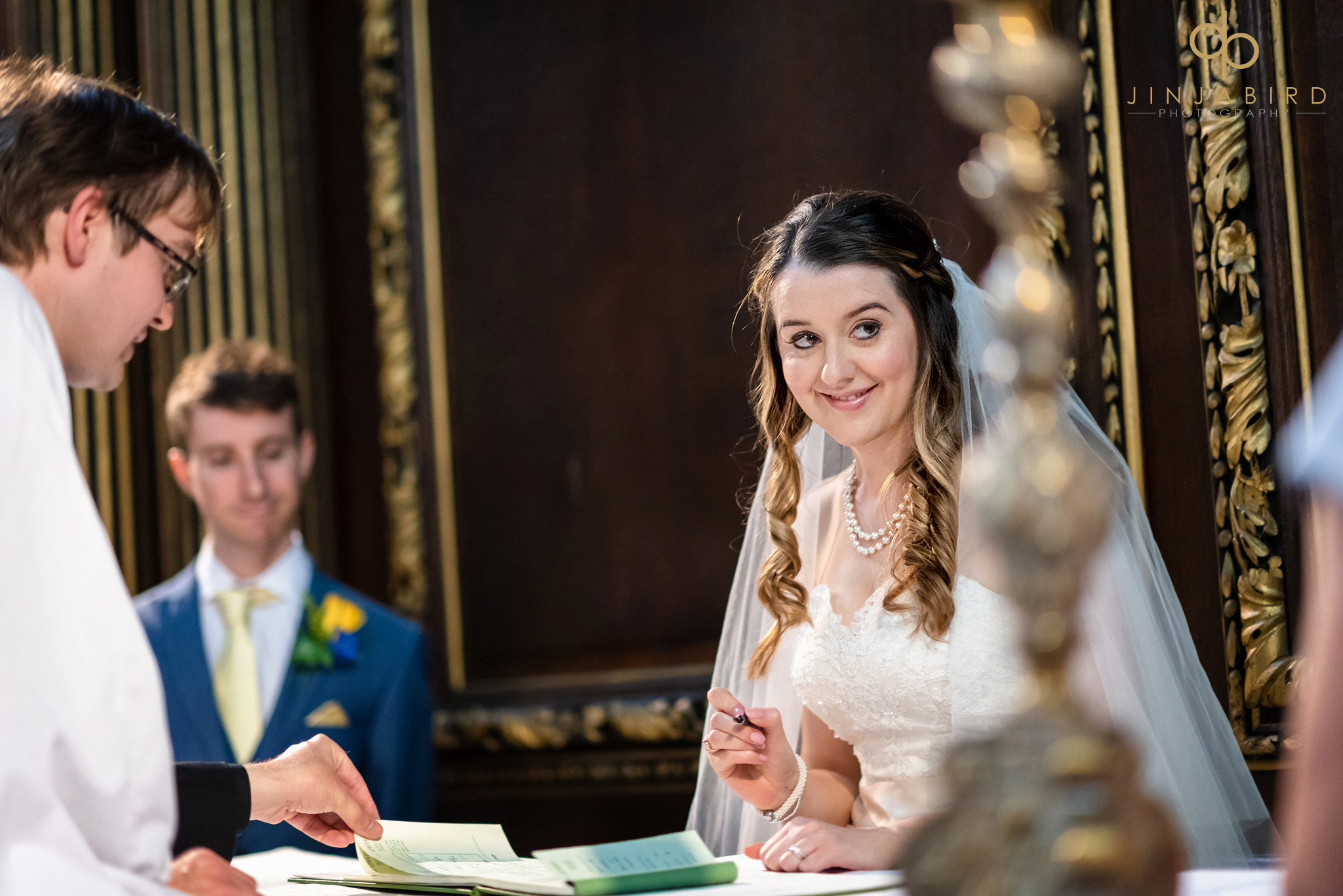 signing wedding register christs college cambridge
