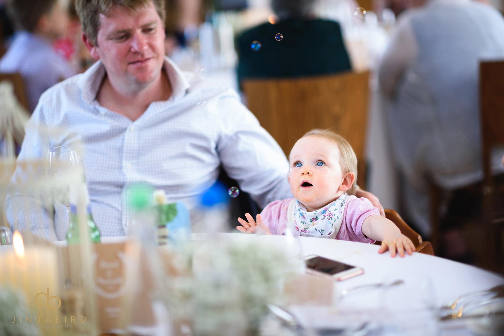 small baby at wedding