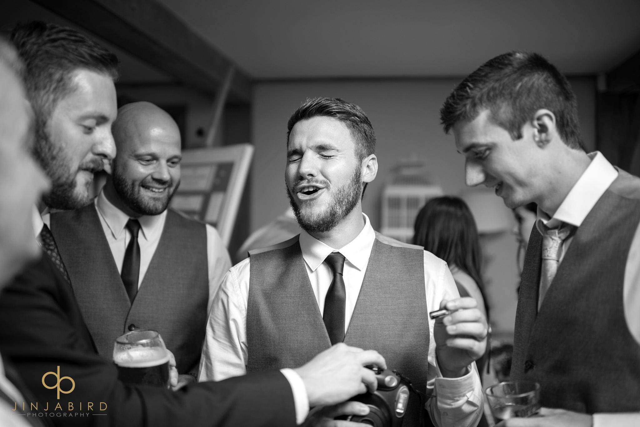 ushers drinking in bar bassmead