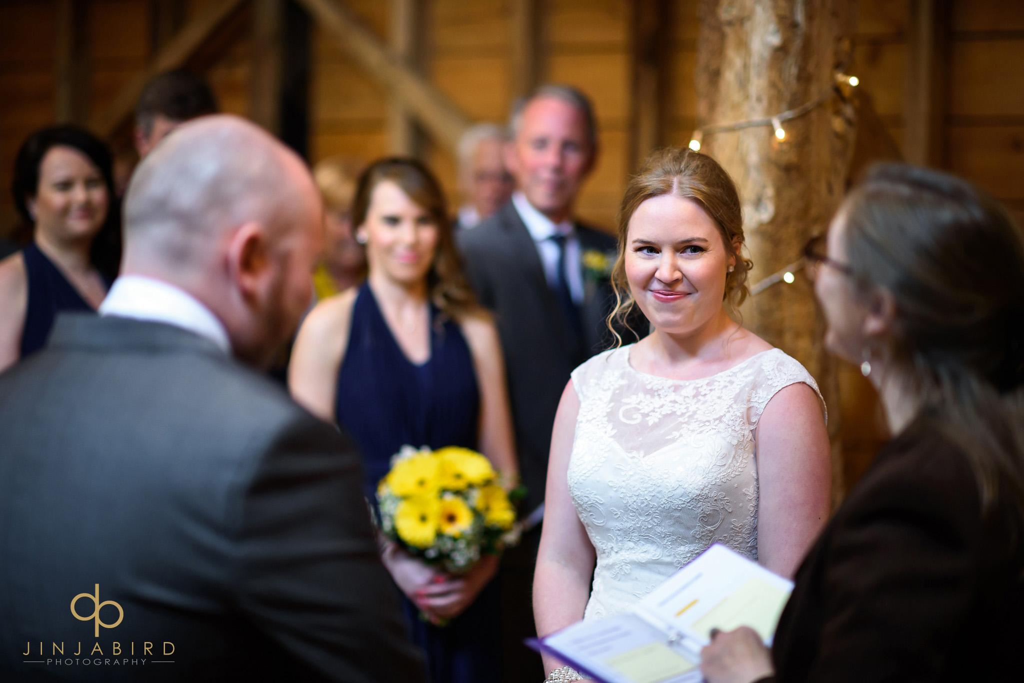 wedding ceremony rickety barn bassmead