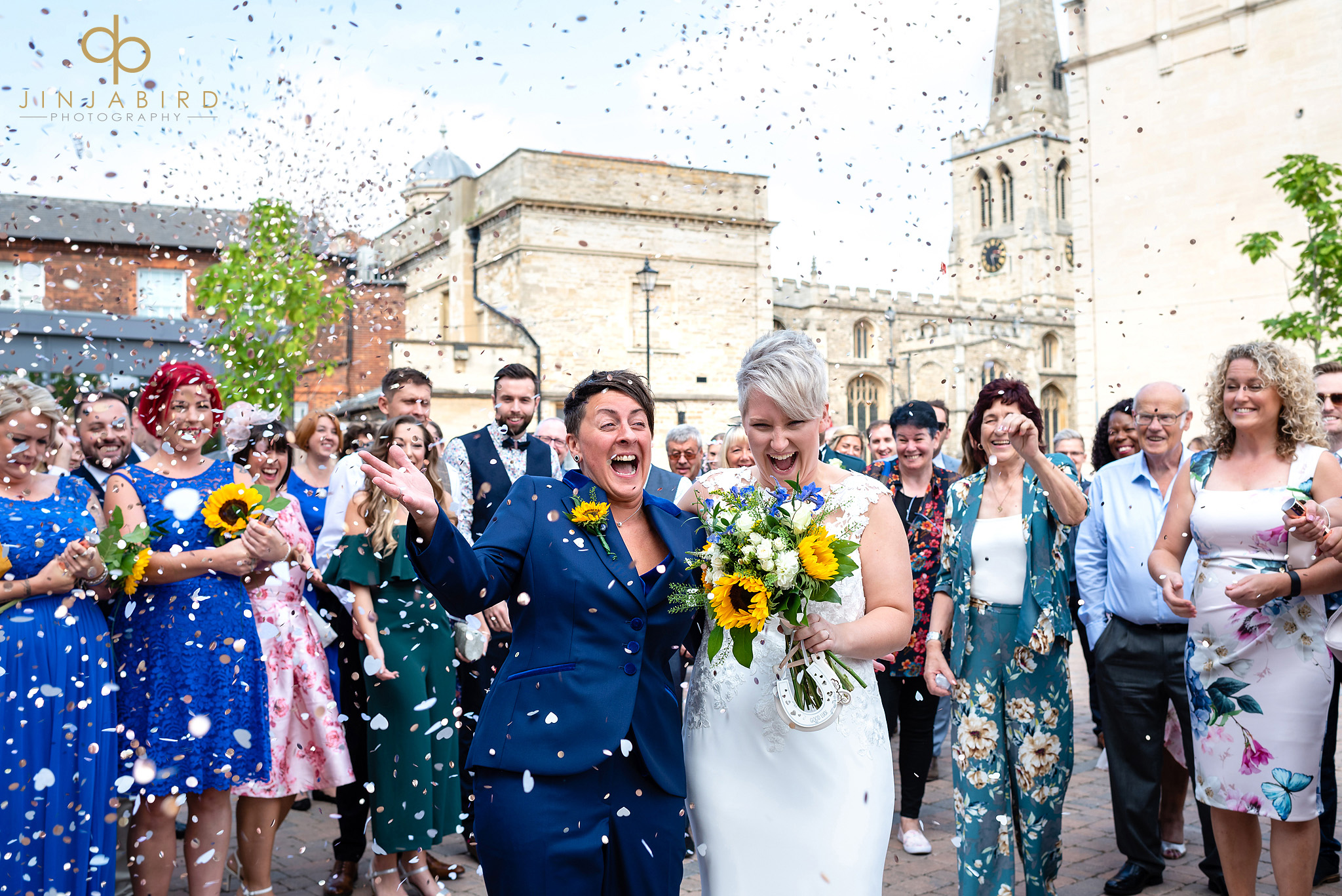 wedding confetti bedford registery office