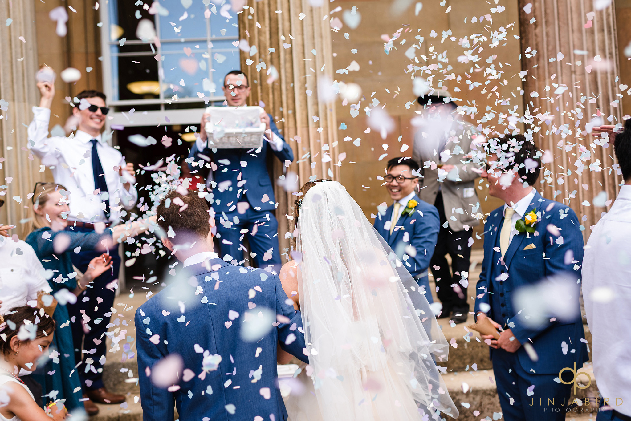 wedding confetti downing college