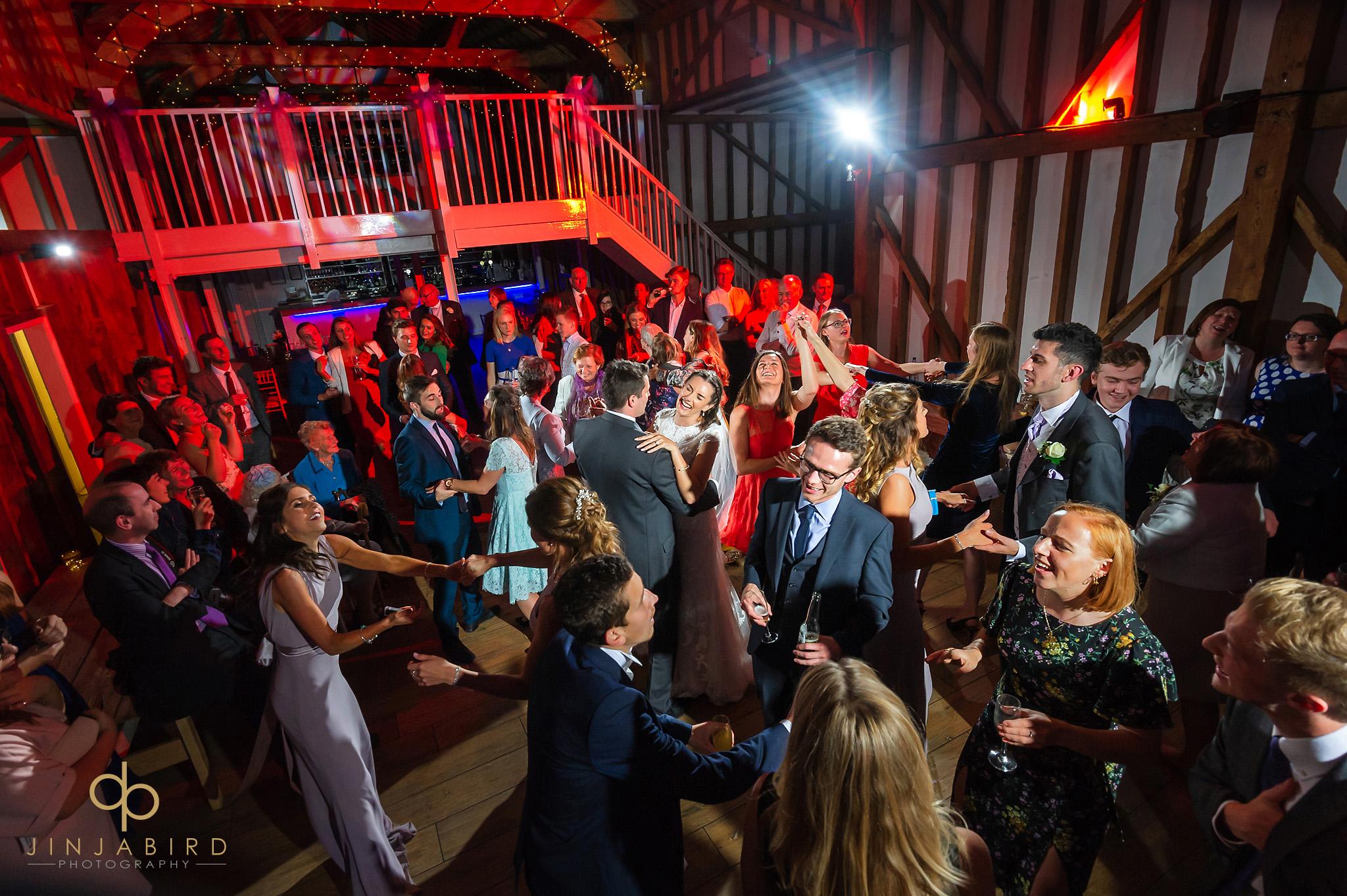 wedding disco milling barn