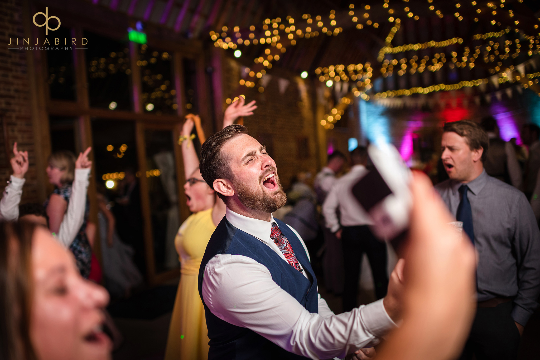 wedding disco thatch barn yelling