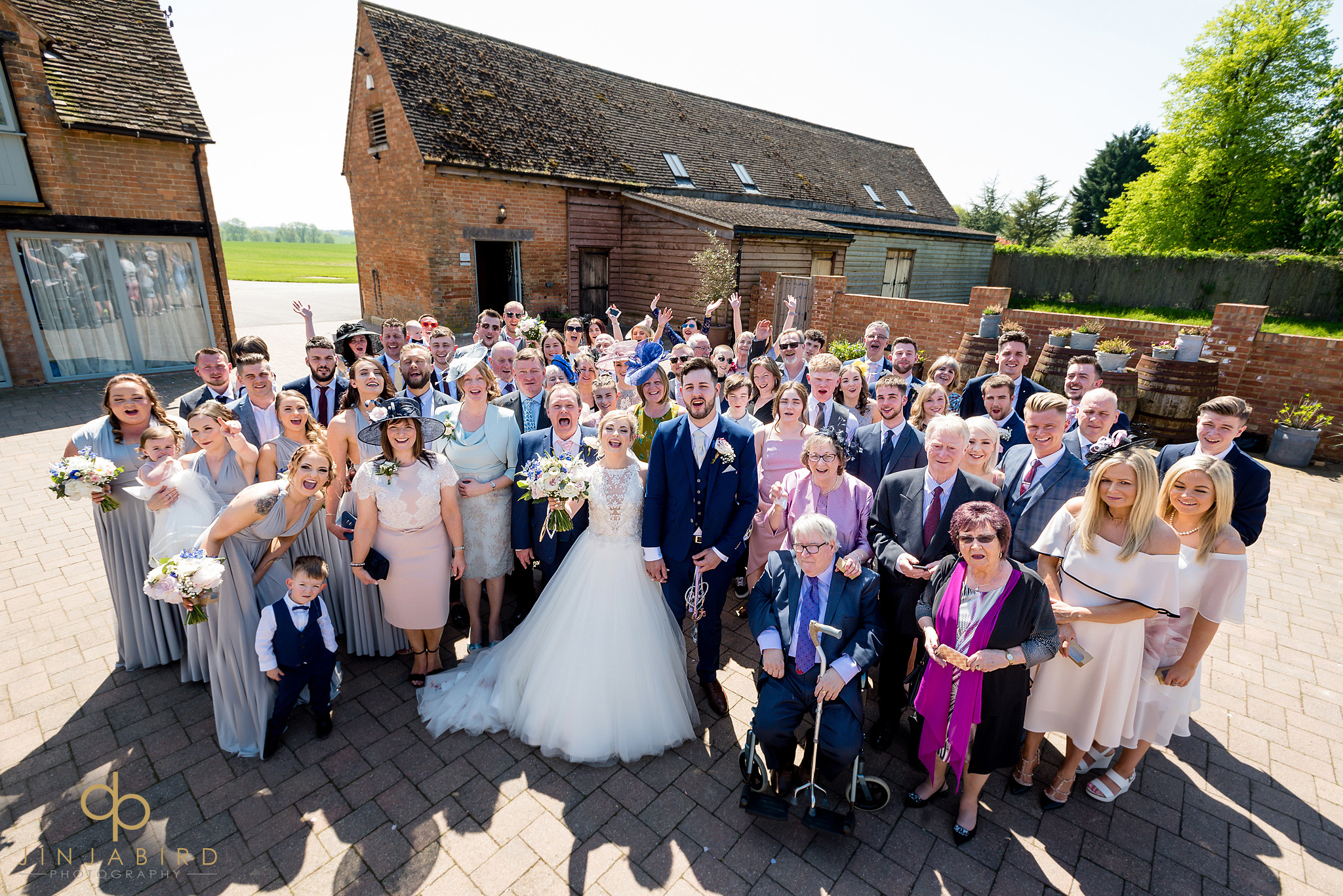 wedding guest group photo bassmead manor