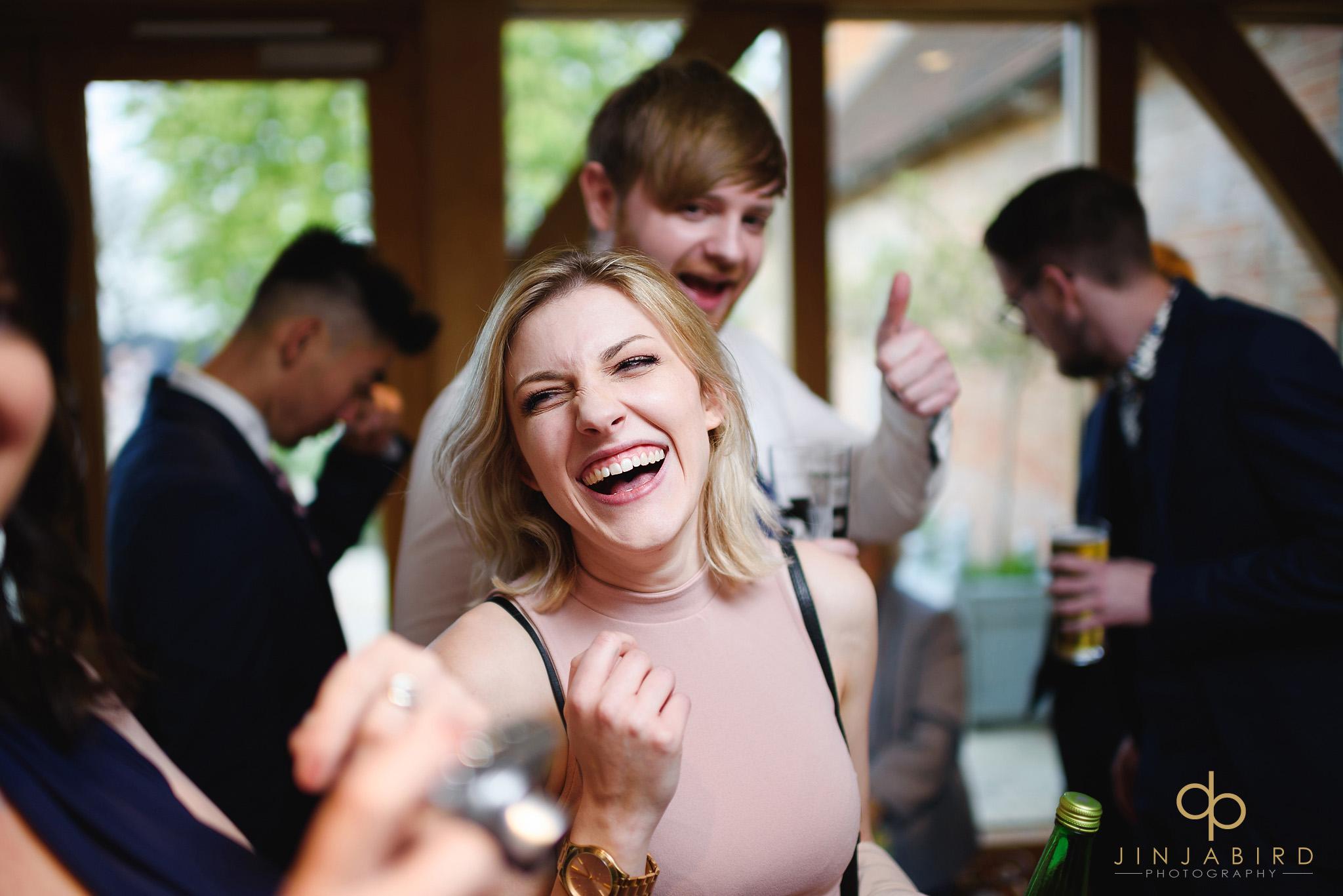 wedding guest in bar bassmead manor