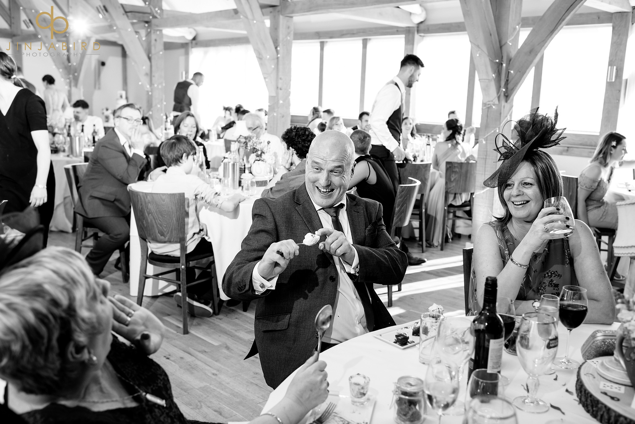 wedding guest throwing ice cream