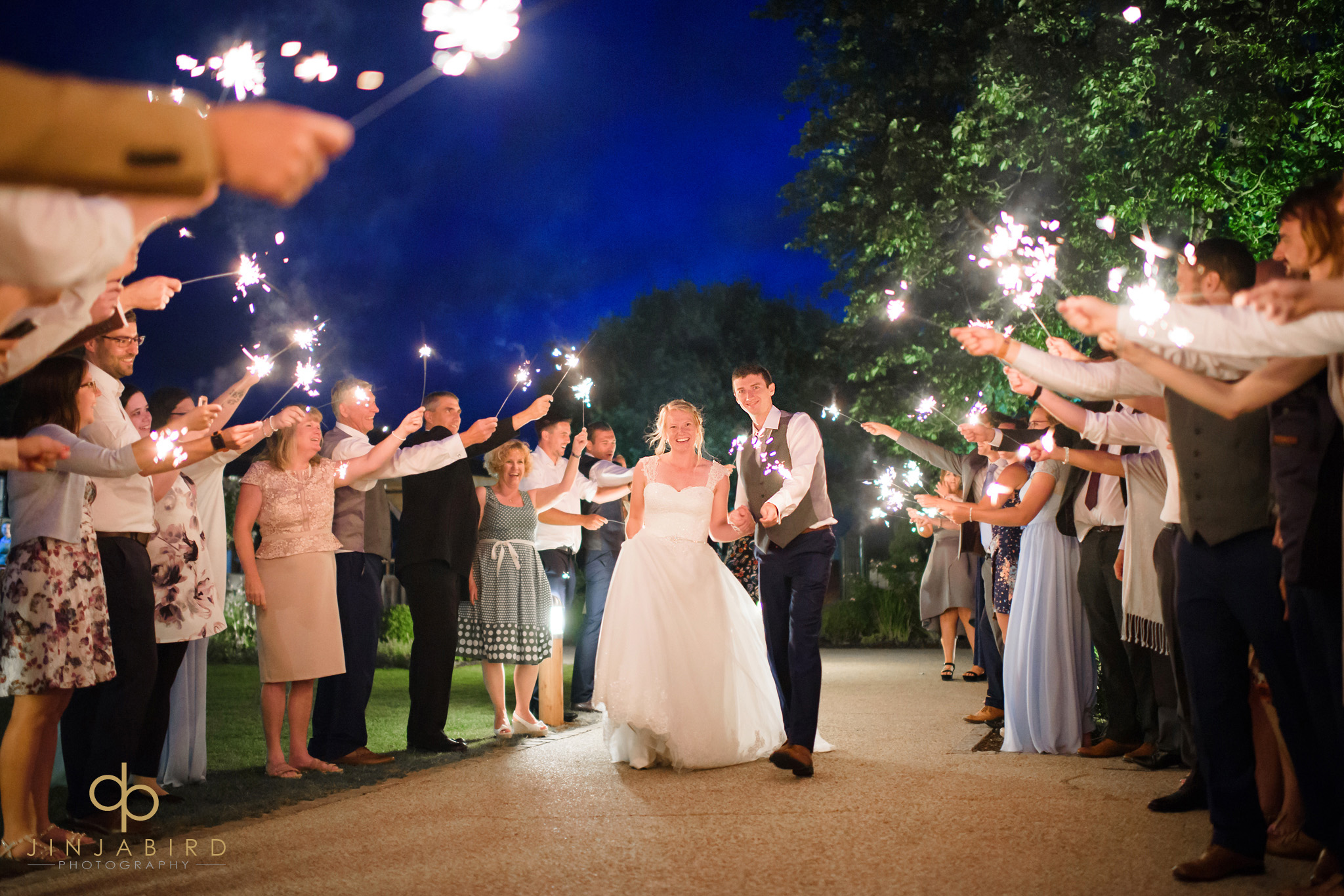 wedding sparkler photo bassmead