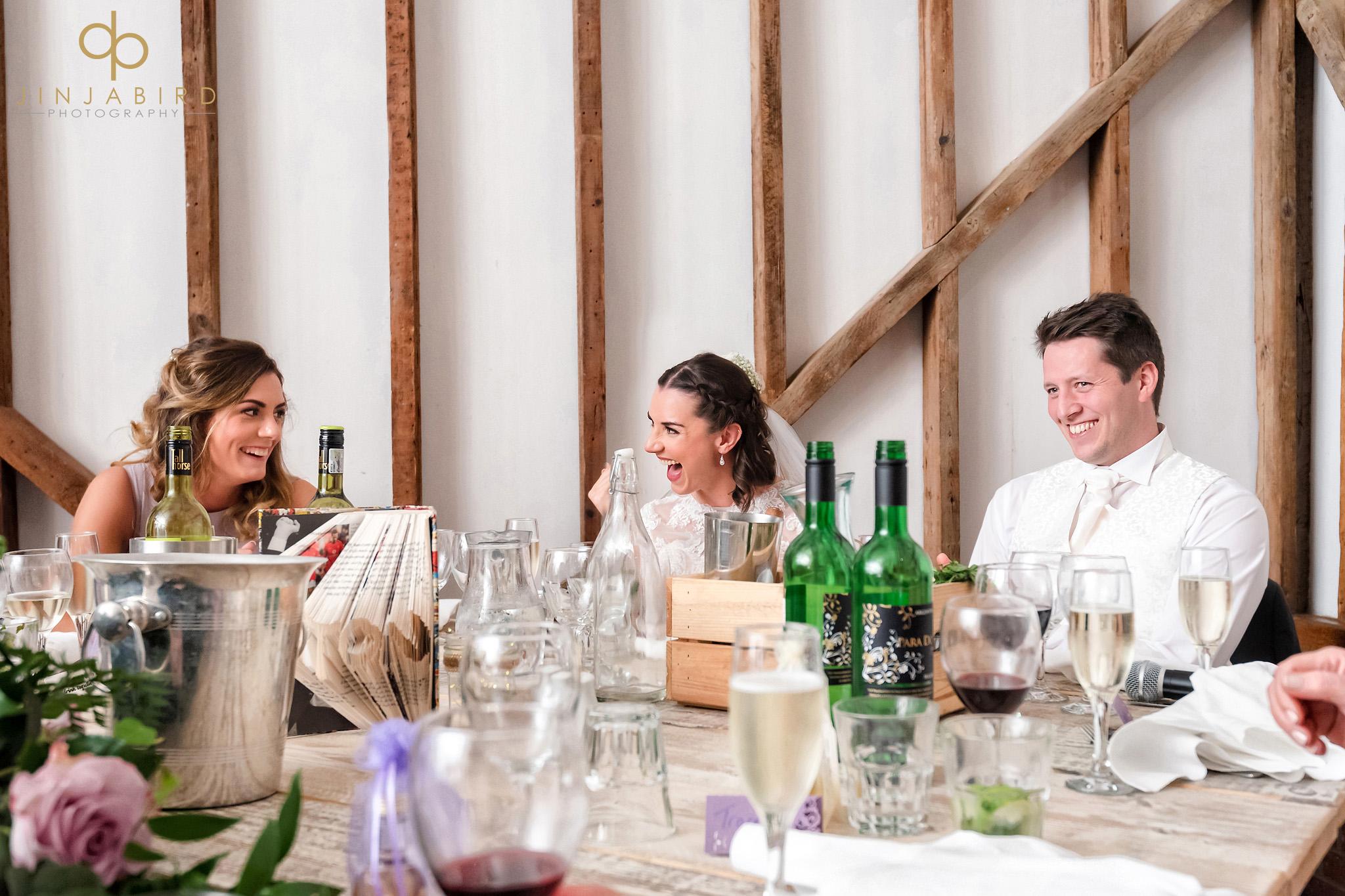 wedding speeches milling barn