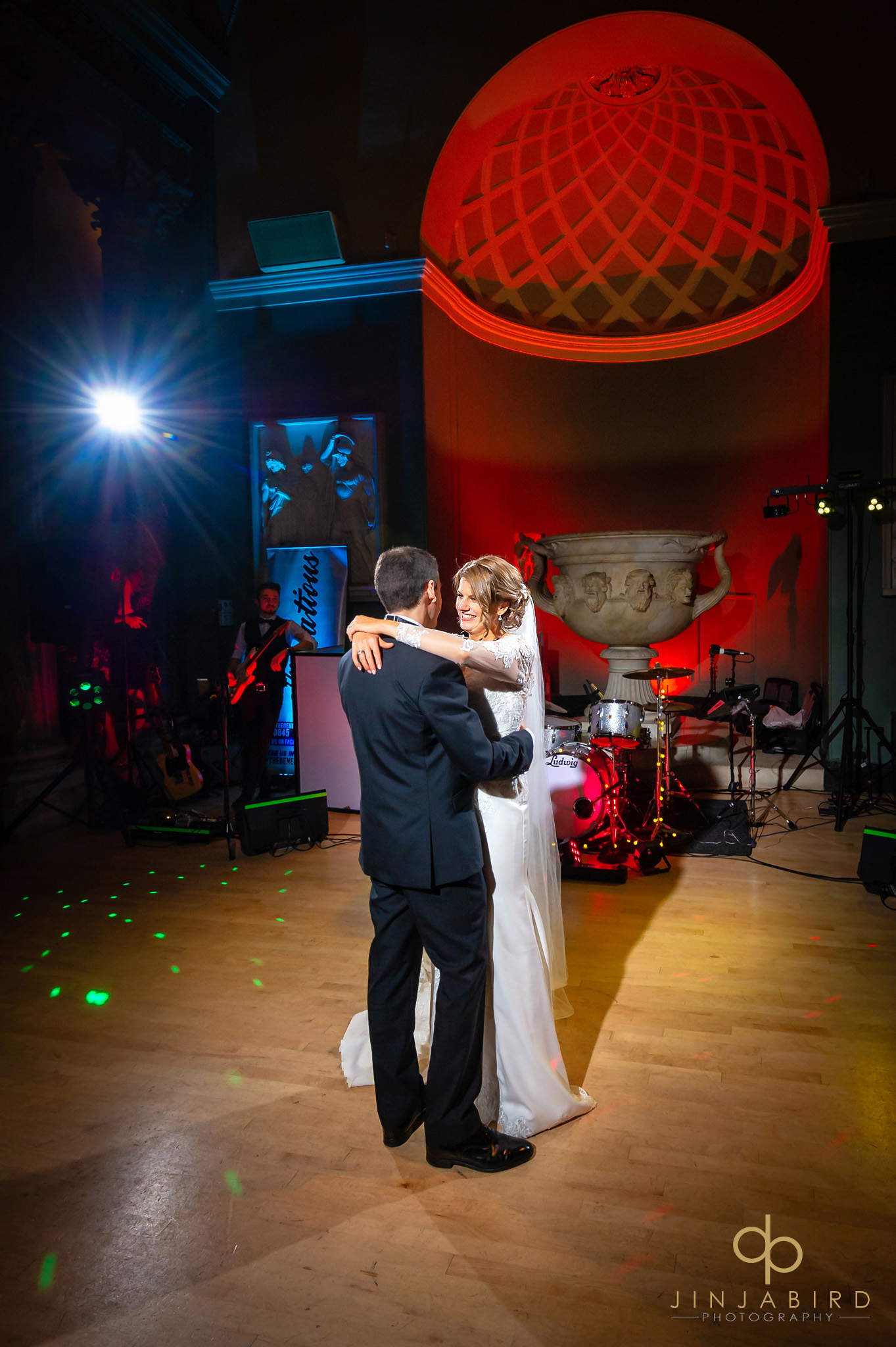 bride and groom first dance woburn sculpture gallery