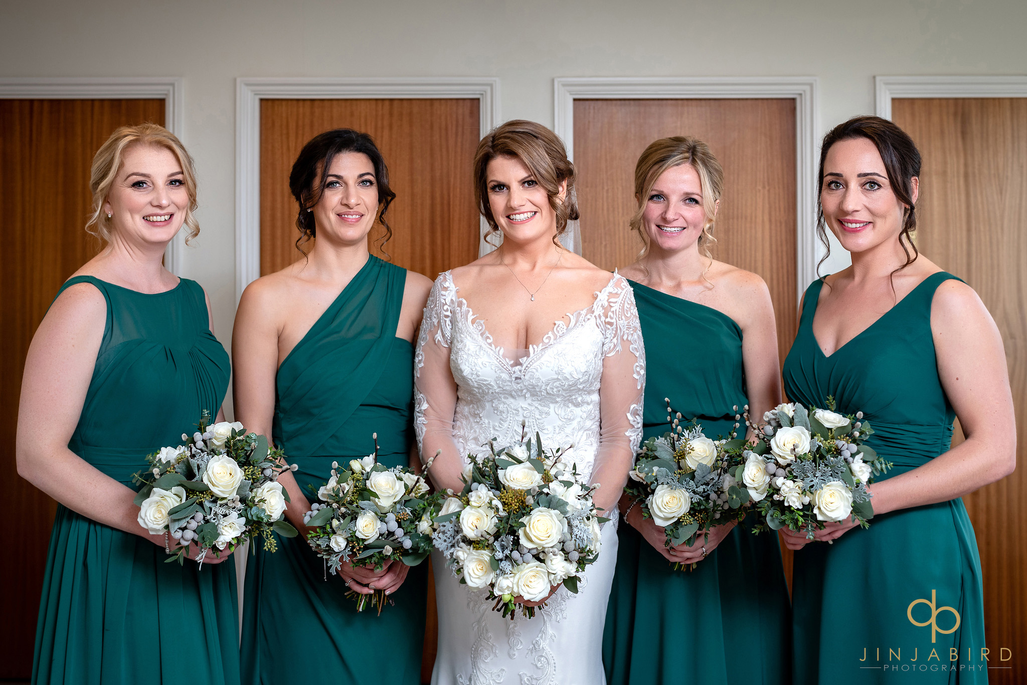bride with bridesmaids woburn sculpture gallery
