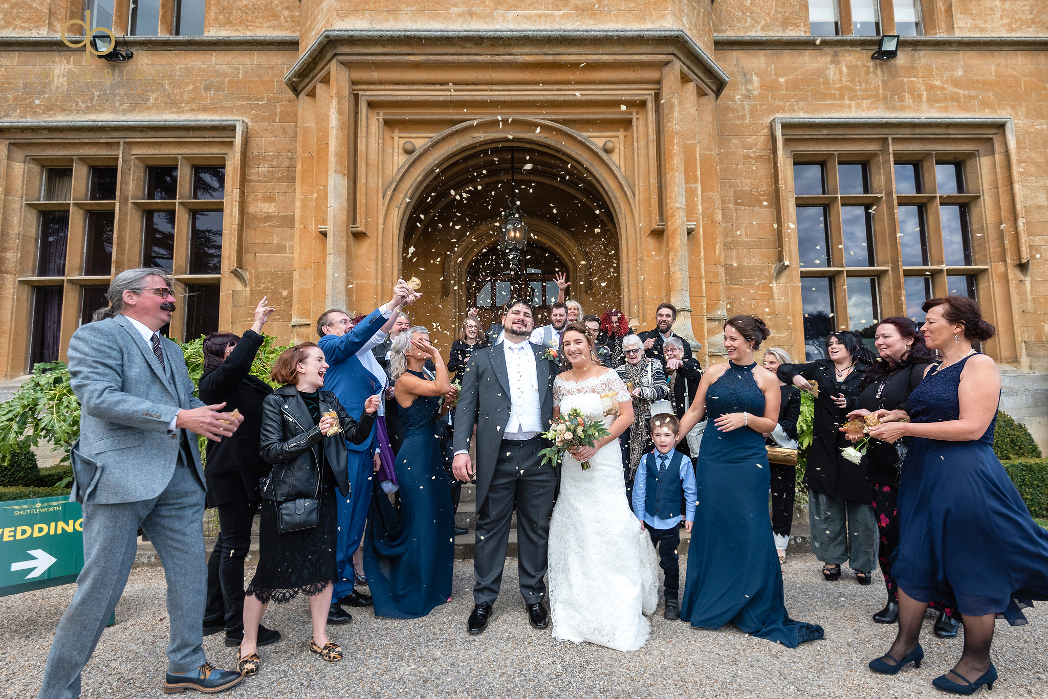 wedding confetti shuttleworth house