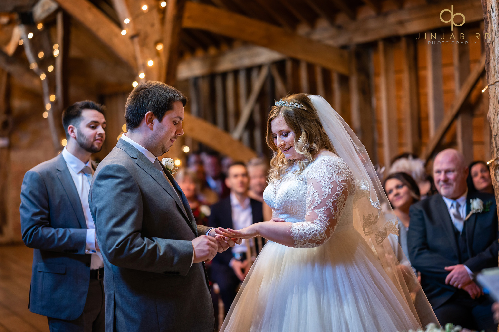 bride with groom during wedding ceremony