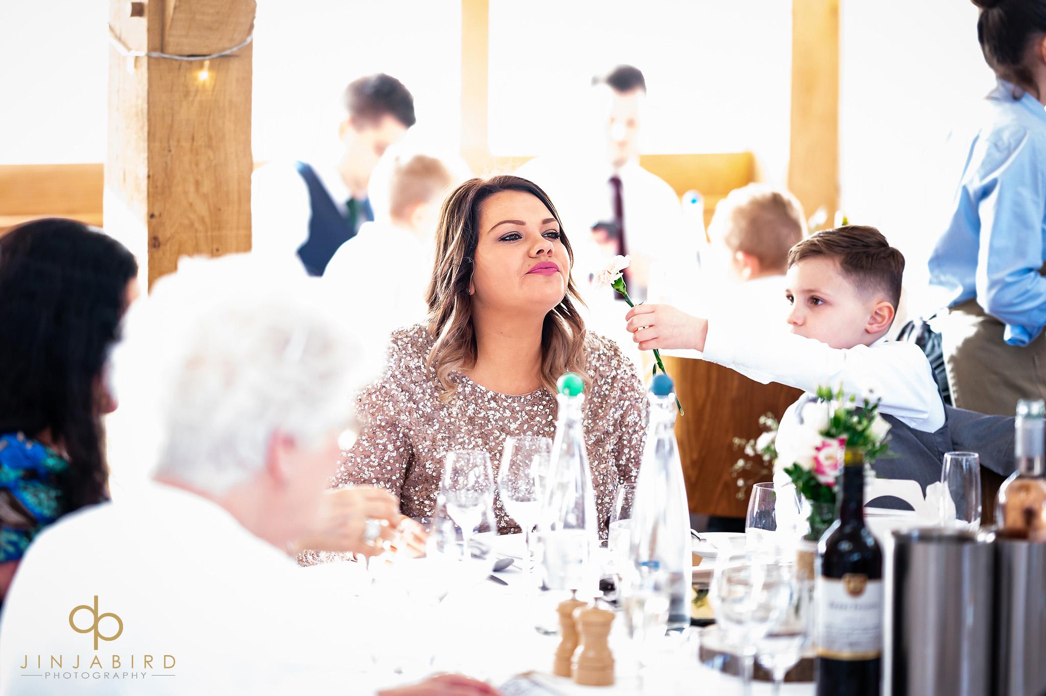 bridesmaid at reception