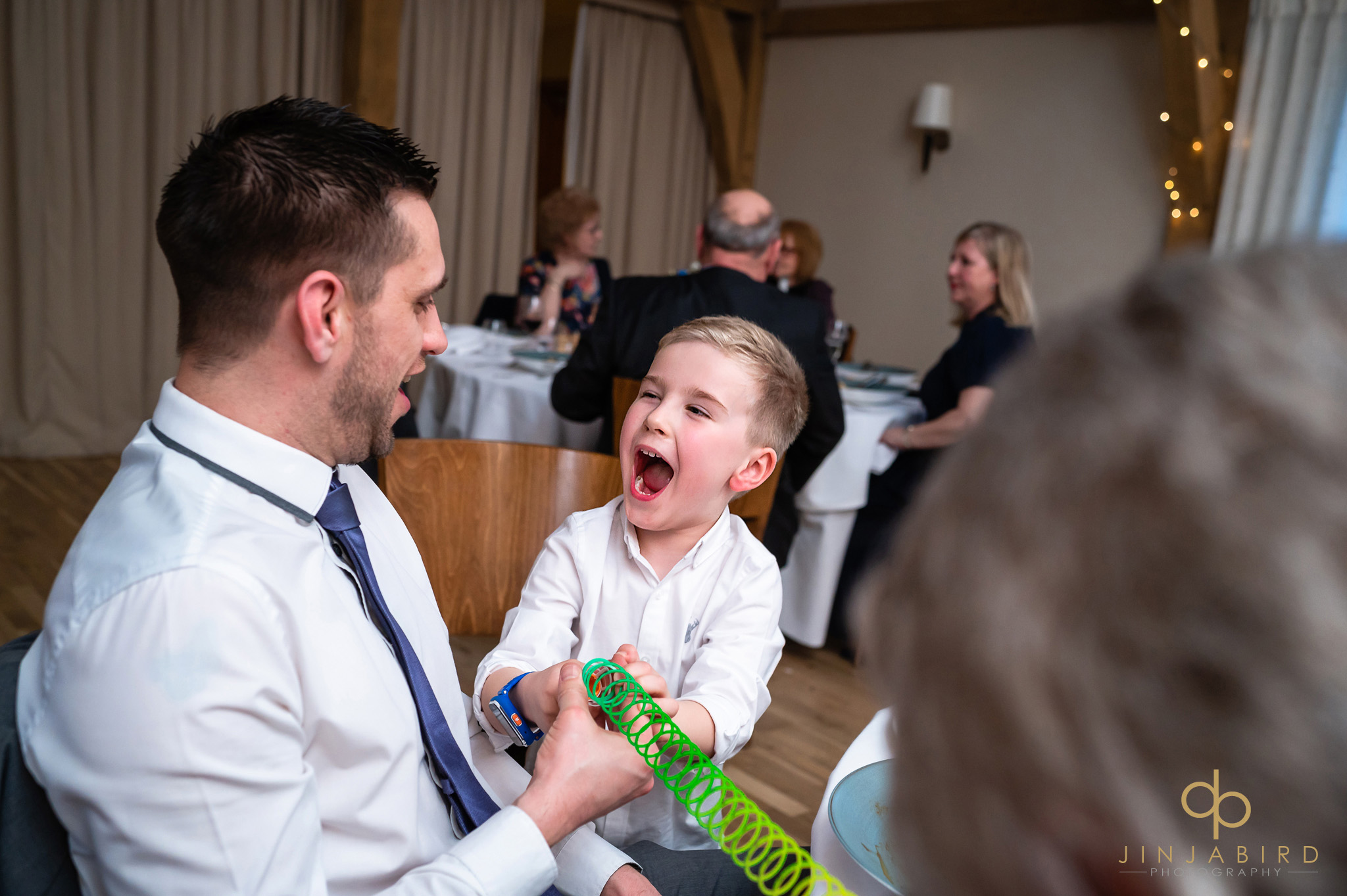 young child during wedding breakfast