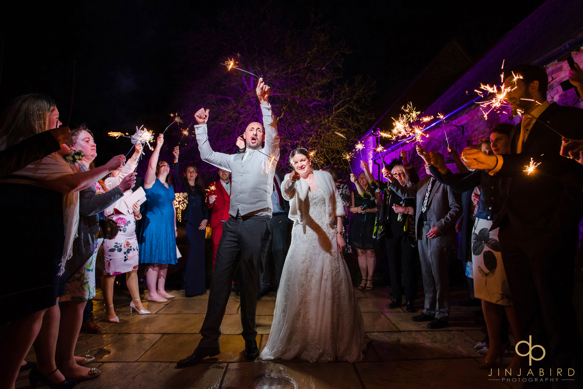 wedding sparklers at bassmead manor