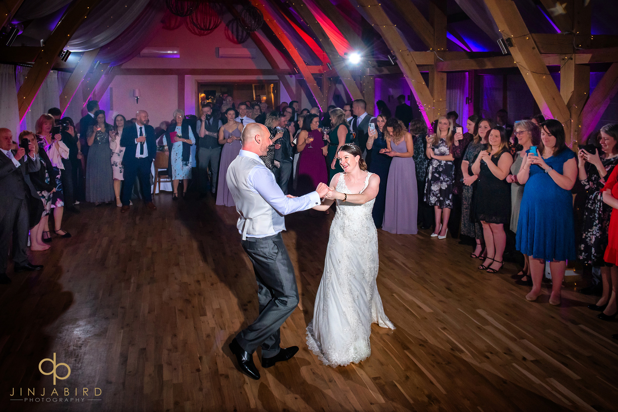 bride and groom first dance bassmead manor