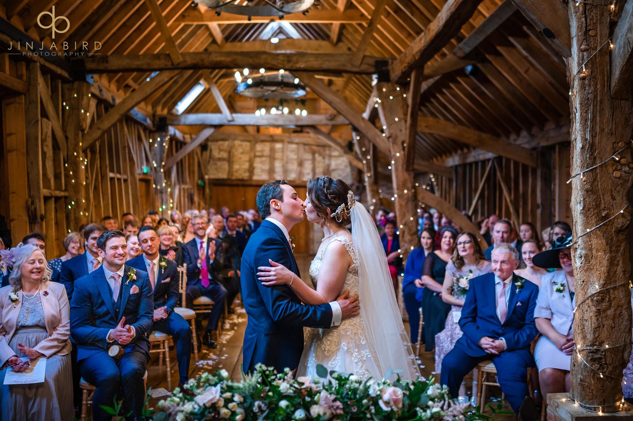 wedding ceremony rickety barn bassmead manor
