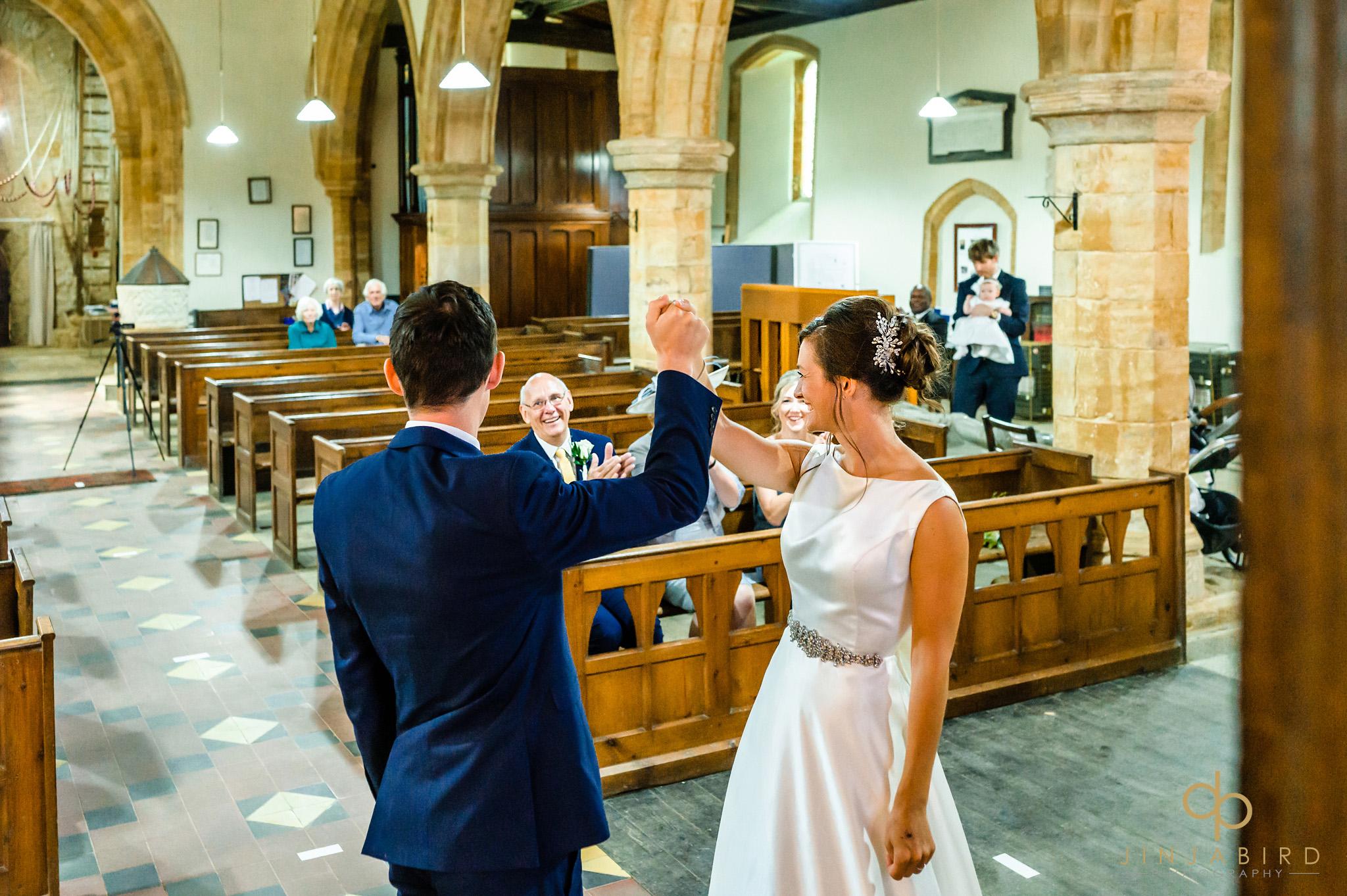 wedding ceremony dodford church