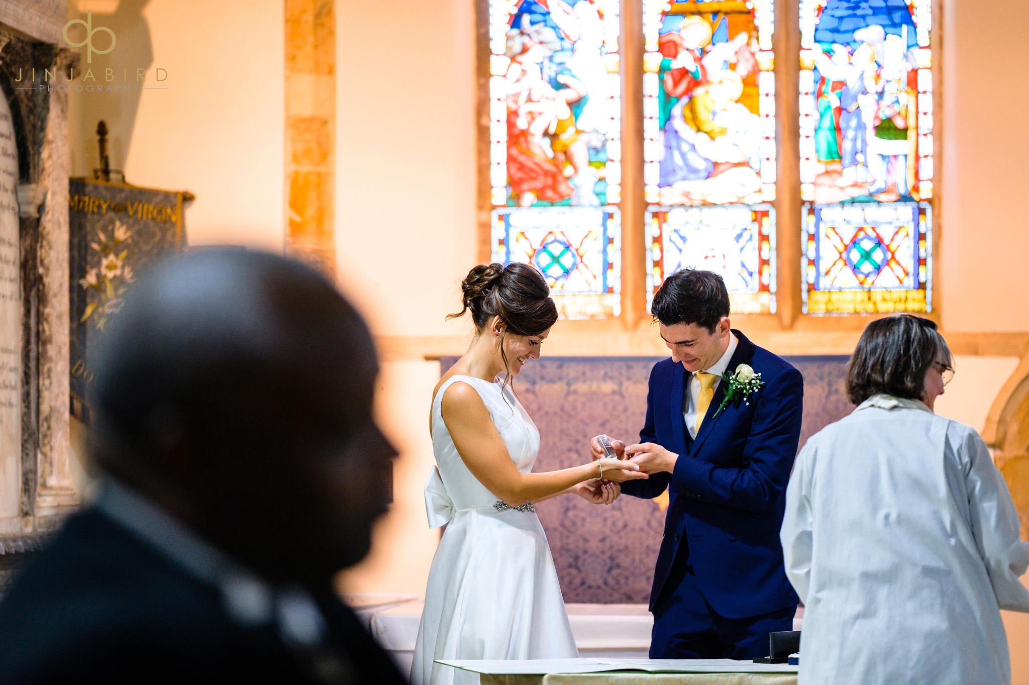 covid wedding dodford church