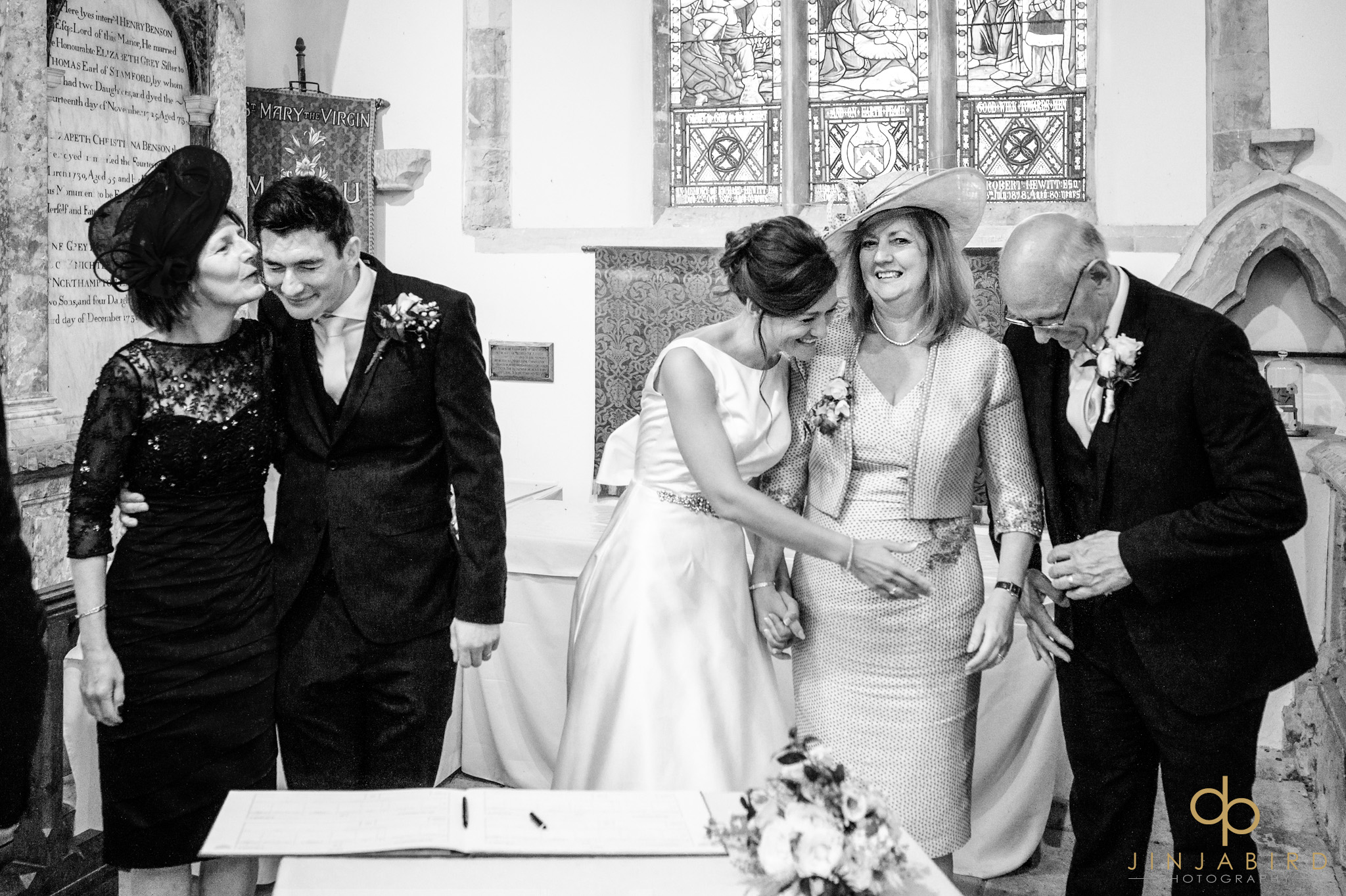 signing wedding register dodford church