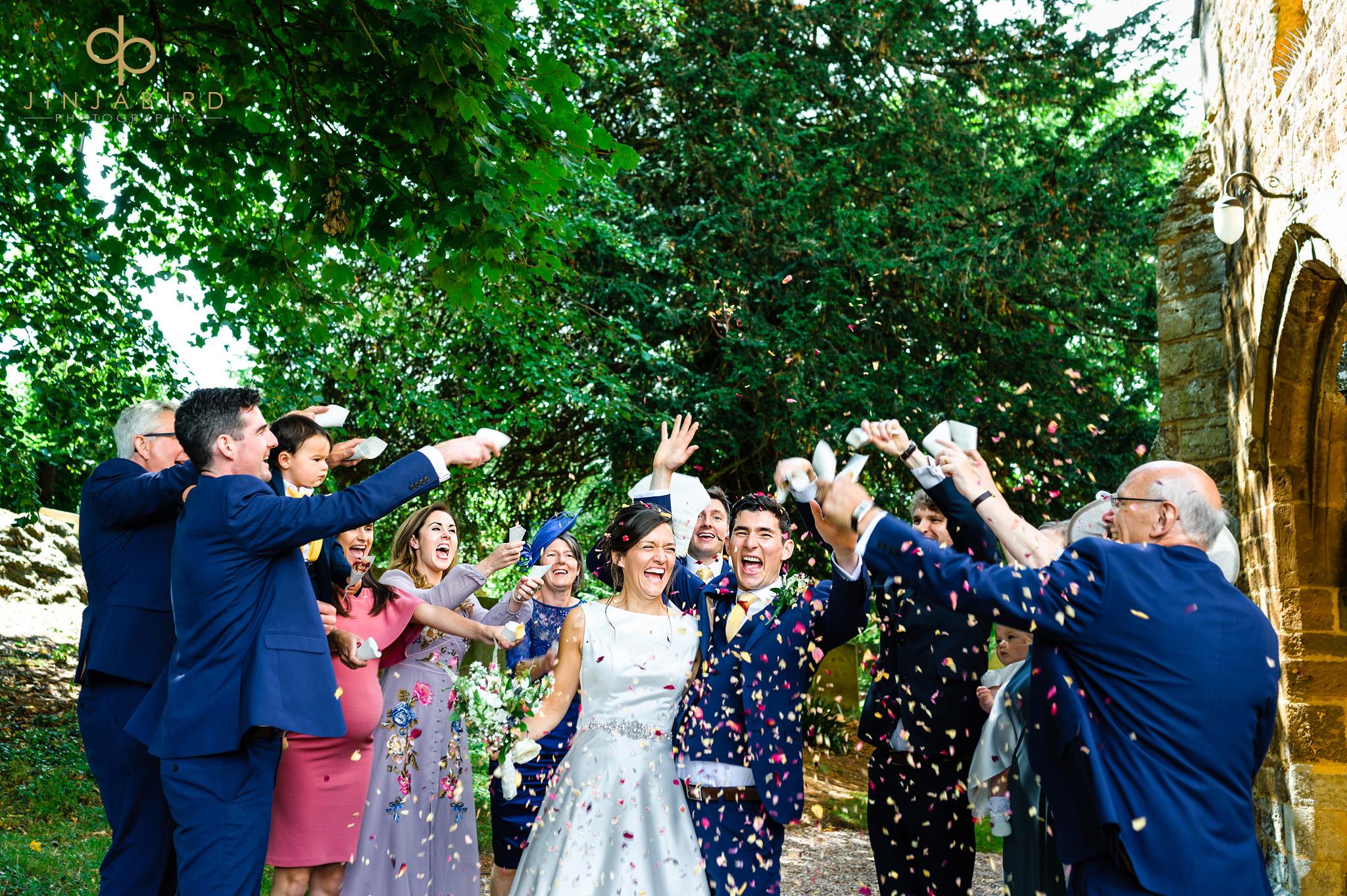 wedding confetti dodford church