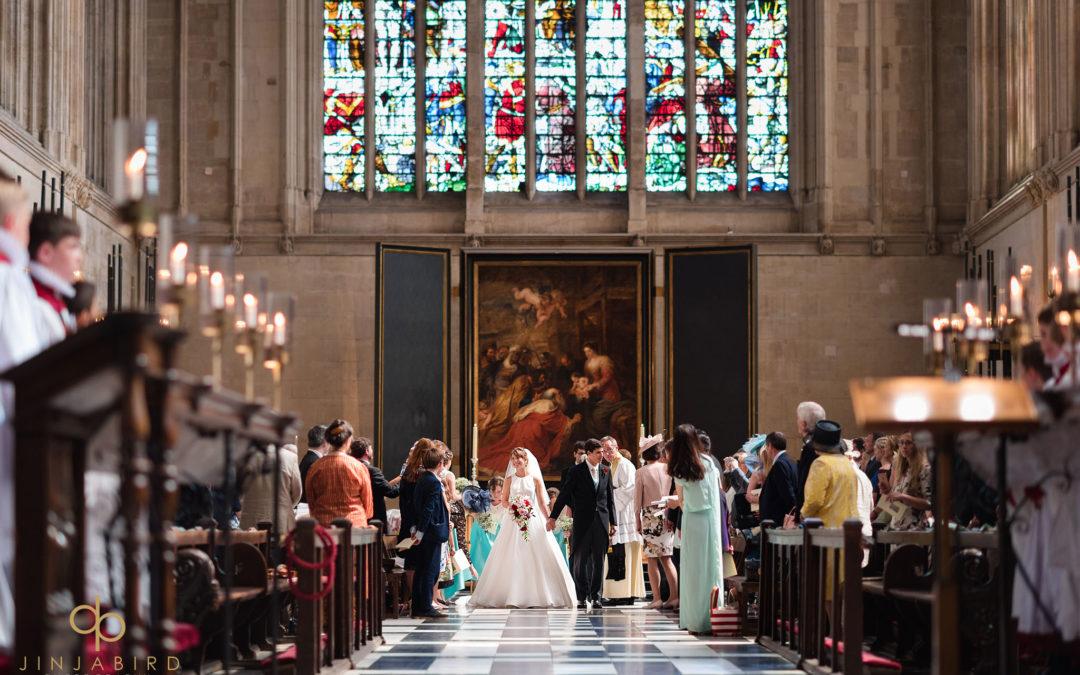 Wedding photographer Kings College Cambridge